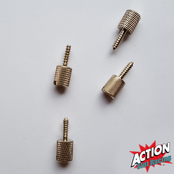 Scalextric Pack Of 4 Base Screws To Hold Cars In Position In Crystal Cases #B