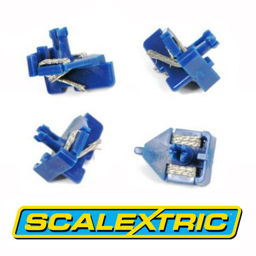Scalextric C8145 Short Stem BLUE Guides With Braids x 4