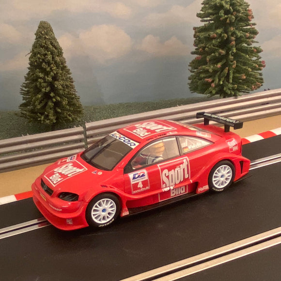 Scalextric 1:32 Car - C2298 Red DTM Opel V8 Coupe #4 #J