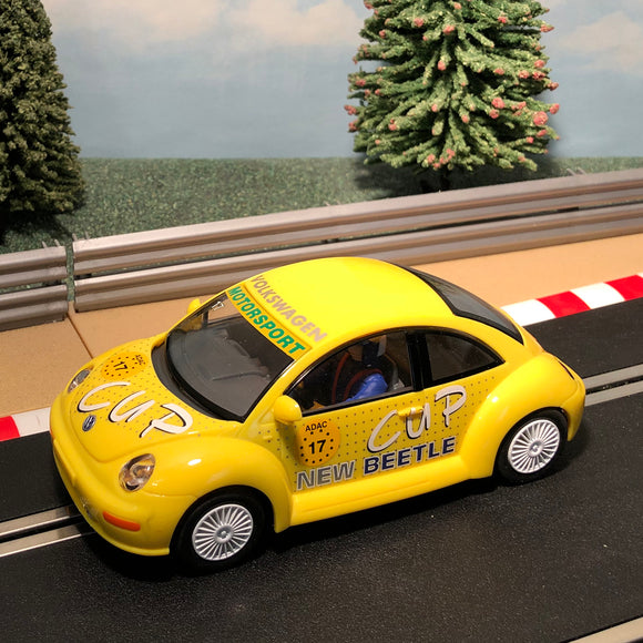 Scalextric 1:32 Car - Yellow VW Volkswagen Beetle #17 #W