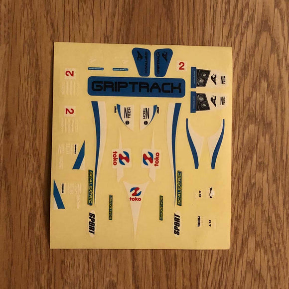 Scalextric 1:32 Start / Sport Car Stickers Decals Transfers #2