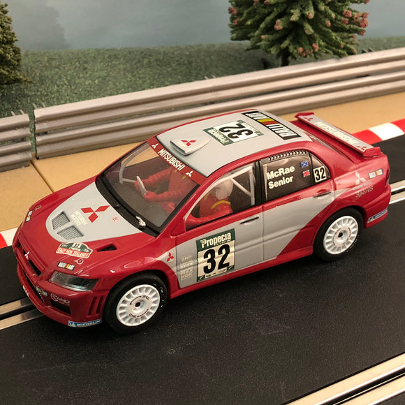 Scalextric 1:32 Car - C2494 Red Mitsubishi Lancer WRC #32 Mcrae Senior RARE #Ax