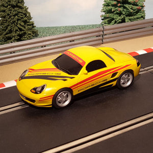 Scalextric 1:32 Digital Car - C2479 Yellow With Stripes Porsche Boxster