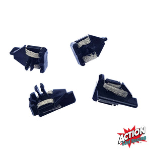Scalextric W5683 - Short Stem BLACK Guides with Braids x 4