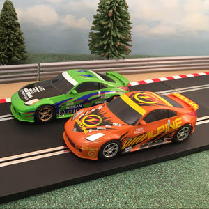 Scalextric 1:32 Pair Of Drift Cars - Nissan 350Z Pioneer & Alpine #S