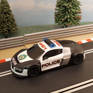 Scalextric 1:32 Car - C3457 Audi R8 GT3 Police Car *LIGHTS & SIREN* #GW