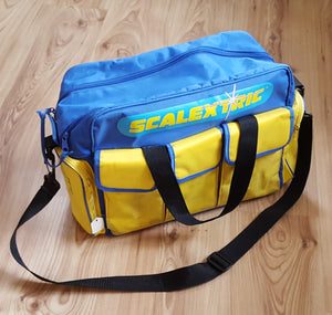 Scalextric Collectors Canvas Holdall Carrying Bag - Blue & Yellow