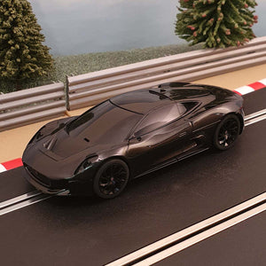 Scalextric 1:32 Car - C3814 Black Jaguar C-X75 #J