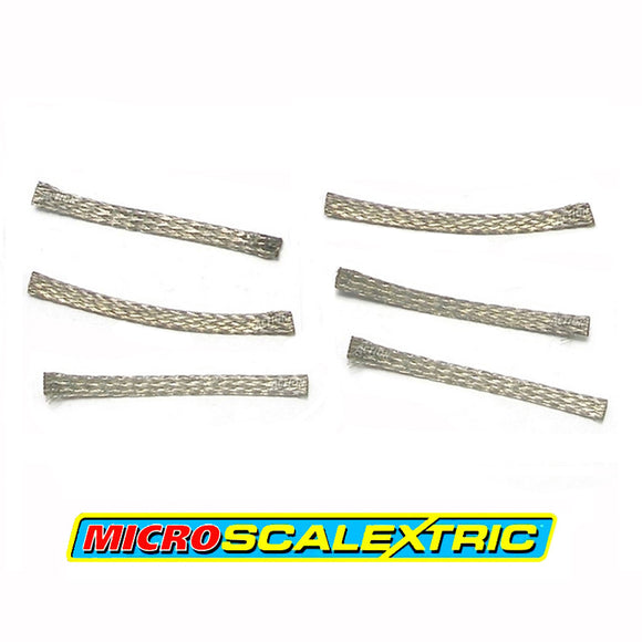 MICRO SCALEXTRIC 1:64 Spares - Standard Pick-up Braids / Brushes x 6 - Action Slot Racing