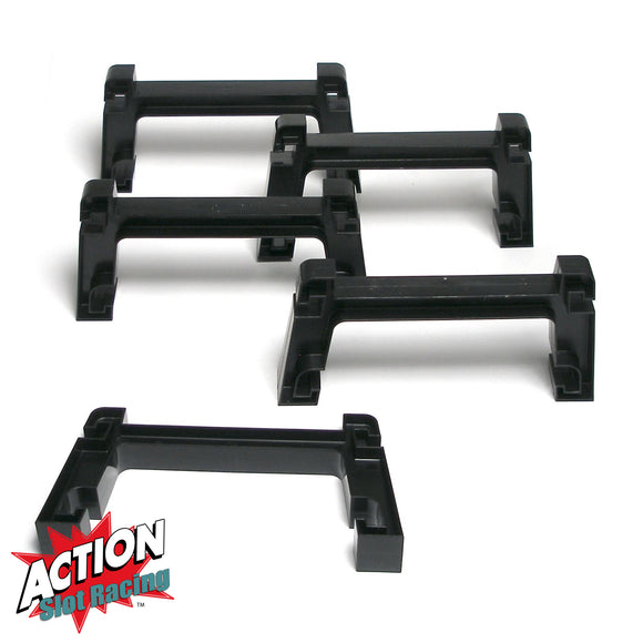 Micro Scalextric 1:64 - BLACK Bridge Track Supports x 5