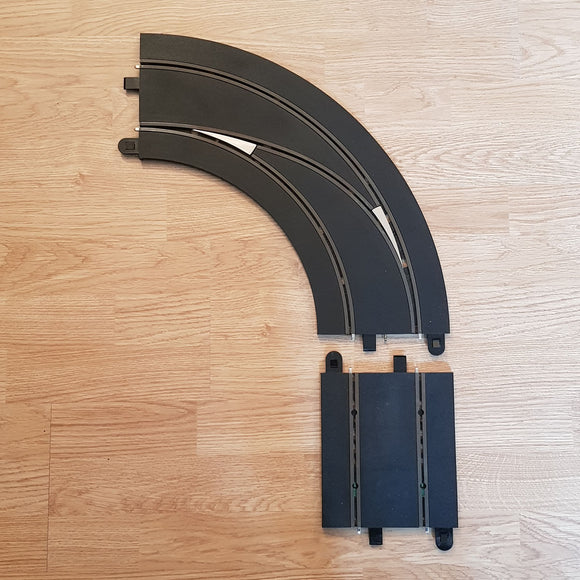 Scalextric Digital 1:32 Track C7007 Lane Changing Curve Left Hand Out To In #P