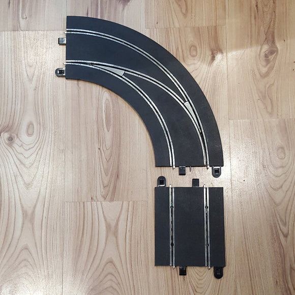 Scalextric Digital 1:32 Track C7007 Lane Changing Curve - Left Hand Out to In #A