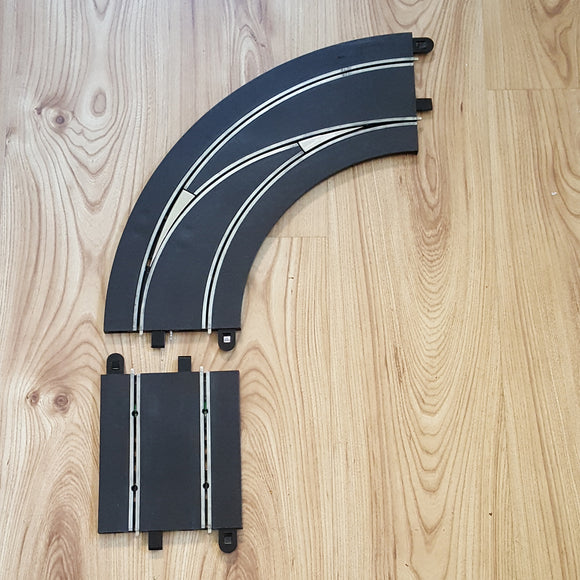 Scalextric Digital 1:32 Track C7008 Lane Changing Curve Right Hand Out To In #A