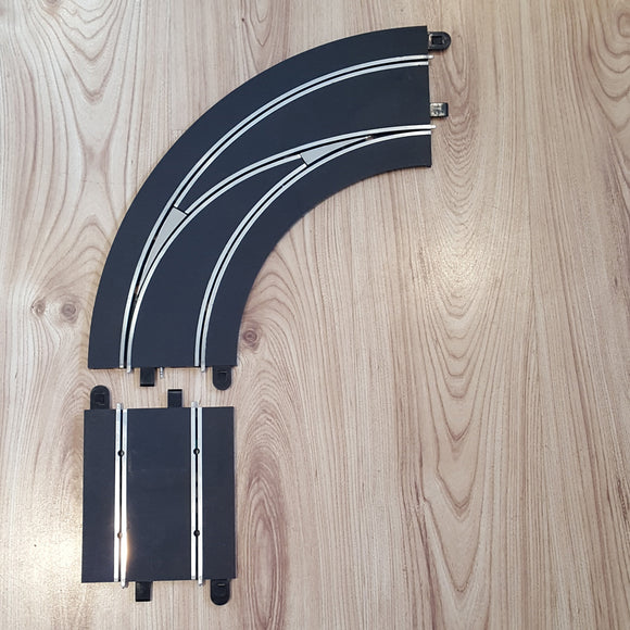 Scalextric Digital 1:32 Track C7008 Lane Changing Curve Right Hand Out To In #E