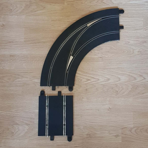 Scalextric Digital 1:32 Track C7010 Lane Changing Curve Right Hand In to Out #A