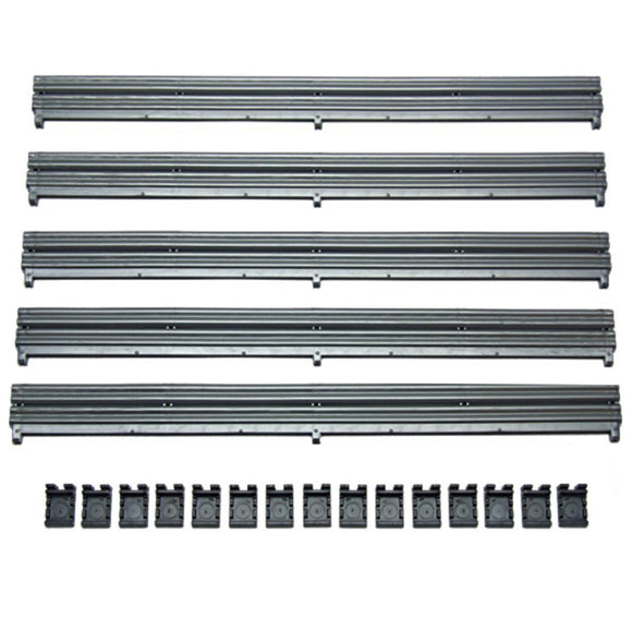 Scalextric 1:32 Sport / Digital Track - C8212 Silver Barriers x 5 & Clips x 15