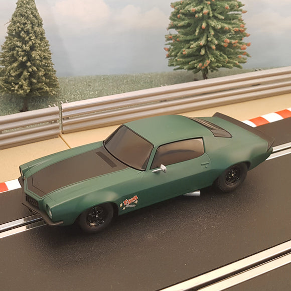 Scalextric 1:32 Car - C3373 Green & Black 1970 Chevrolet Camaro - Fast & Furious