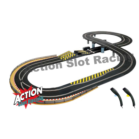 Scalextric Sport 1:32 Track Set - Figure-Of-Eight Layout With Ramp & Bridge