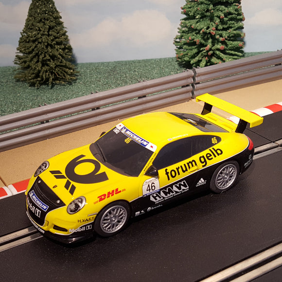 Scalextric 1:32 Car - C3079 Yellow Porsche 997 'Forum Gelb' #46