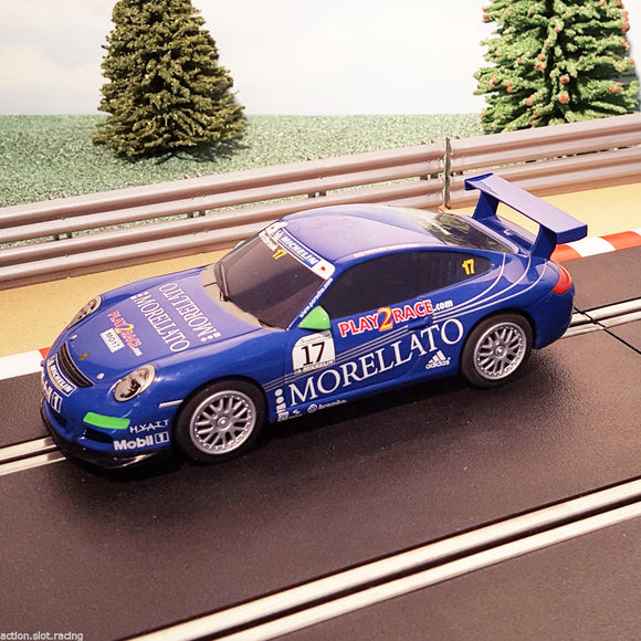 Scalextric 1:32 Car - Blue Porsche 997 MORELLATO #17
