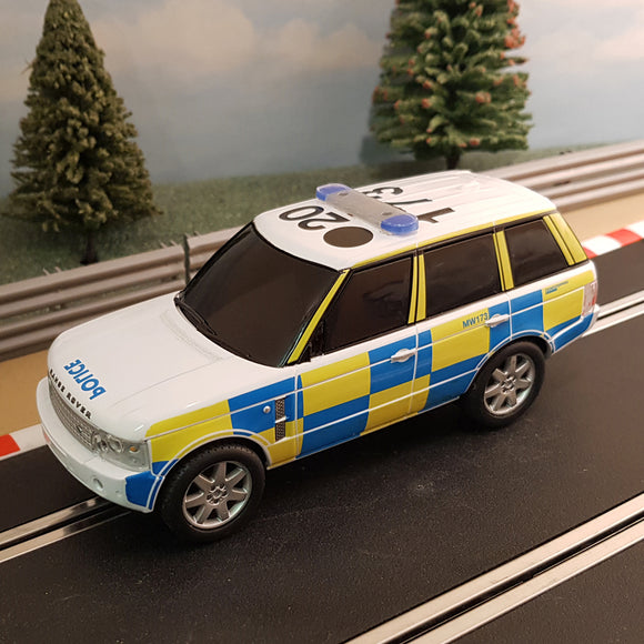 Scalextric 1:32 Car - Police Range Rover C2833 FLASHING LIGHTS & SIREN DRIFT #M