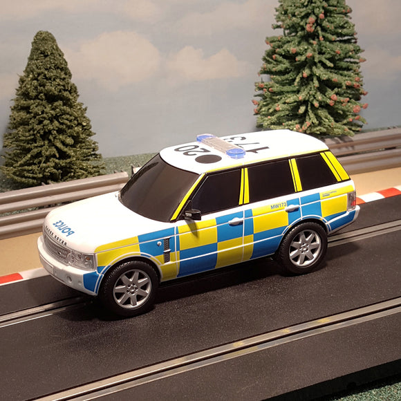 Scalextric 1:32 Car - Police Range Rover C2833 **FLASHING LIGHTS & SIREN** DRIFT