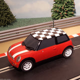 Scalextric 1:32 Car - Red Mini Cooper With Chequered Roof #C