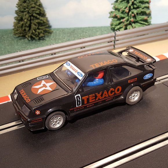 Scalextric 1:32 Slot Car - Black Ford Sierra Cosworth Texaco #6 #A