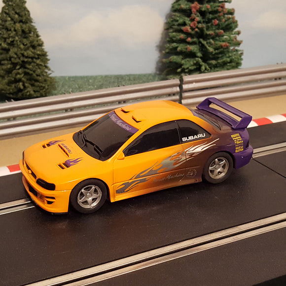 Scalextric 1:32 Car - Orange / Purple Subaru Impreza WRC Street Machine