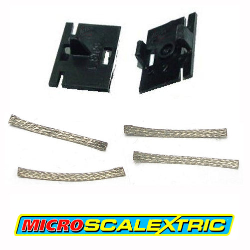 MICRO SCALEXTRIC 1:64 Spares - Guide Blade Plates & Pick-up Braids Brushes W1573 - Action Slot Racing