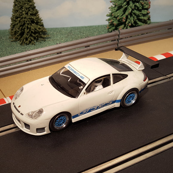 Scalextric 1:32 Car - C2857 White Porsche 911 GT3RS *LIGHTS* #M