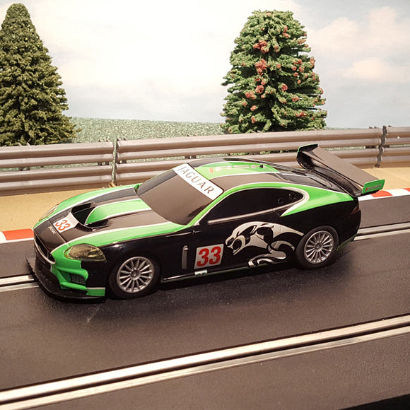 Scalextric 1:32 Car - C3241 Green Black Jaguar XKR GT3 #33 #A