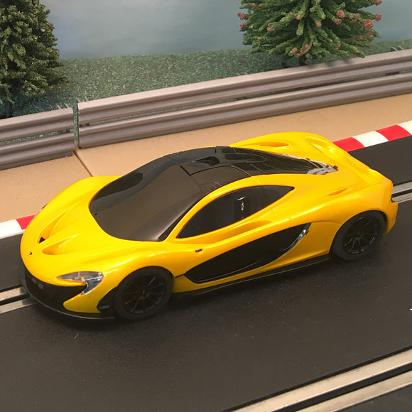 Scalextric 1:32 Car - Yellow Mclaren P1 *LIGHTS* #F
