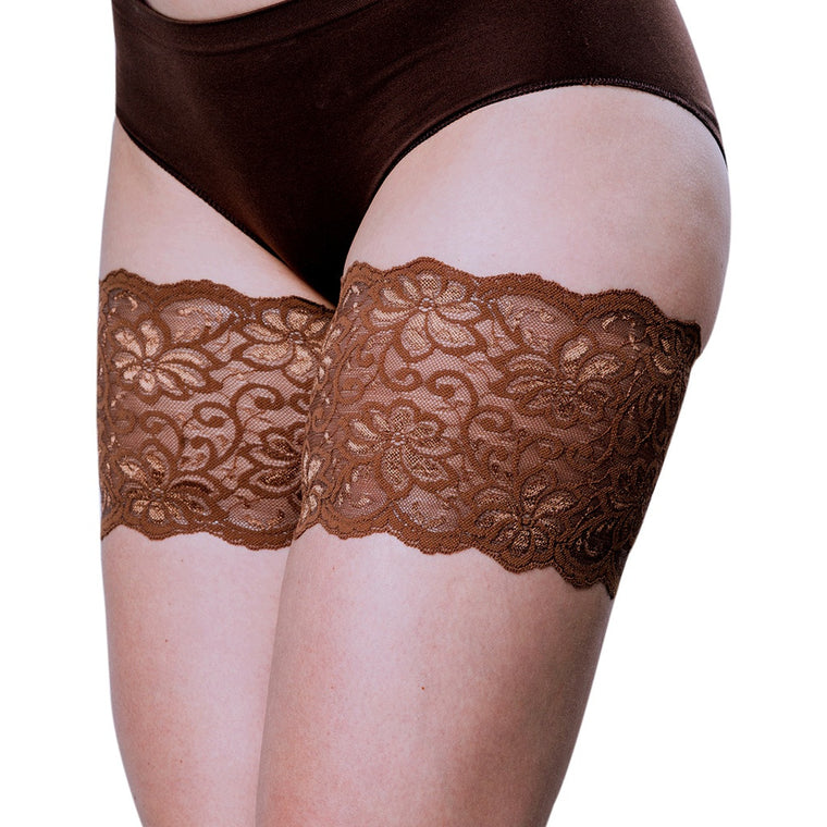 "Bandelettes DOLCE CHOCOLATE Elastic Anti-Chafing Thigh Bands, 5.5"" in length"