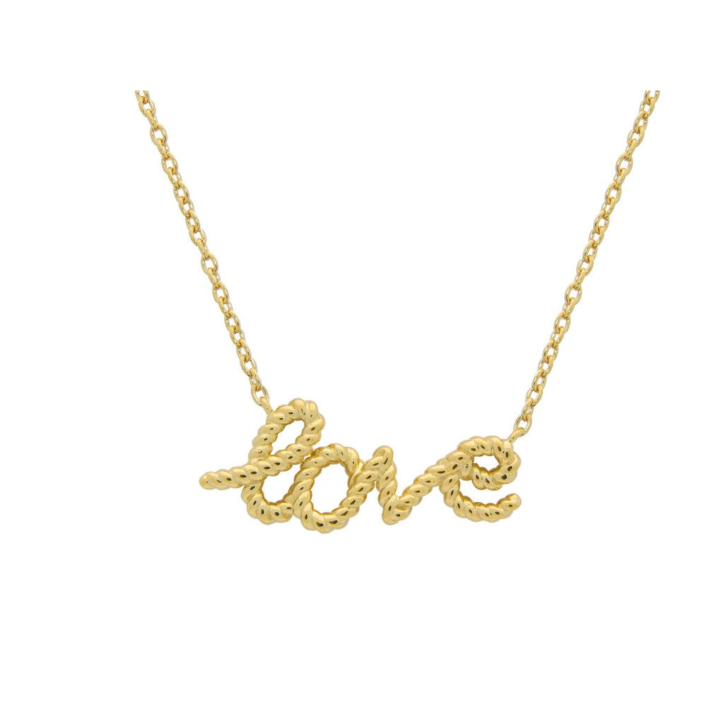 "Sterling Silver Twisted Love Pendant Necklace | Gold Plated, 15.5"" + 1 "" Extension"