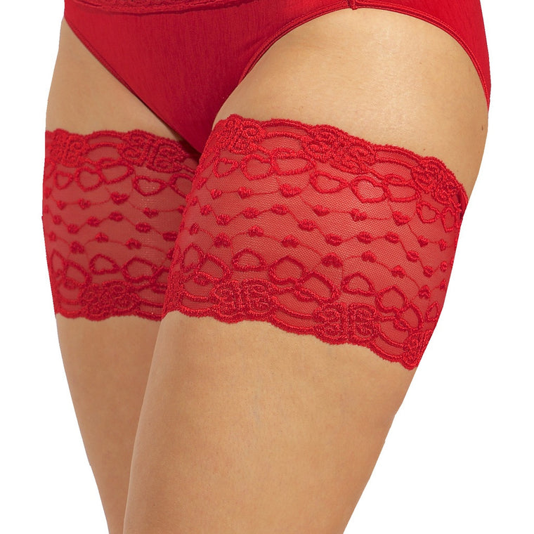 Bandelettes RED ROMANCE - Elastic Anti-Chafing Thigh Bands Red