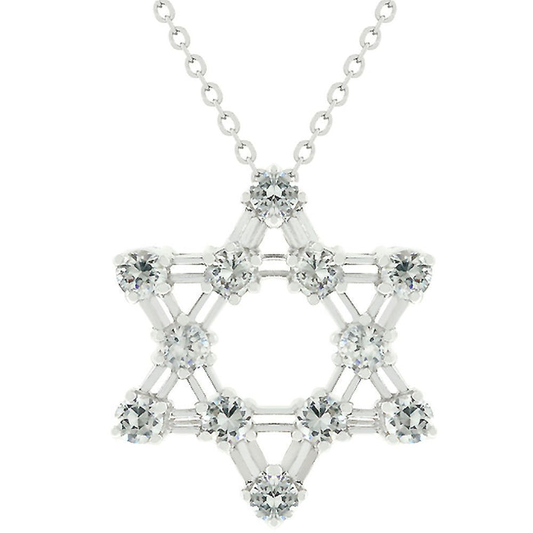 Cz Star Of David Pendant - duzuu