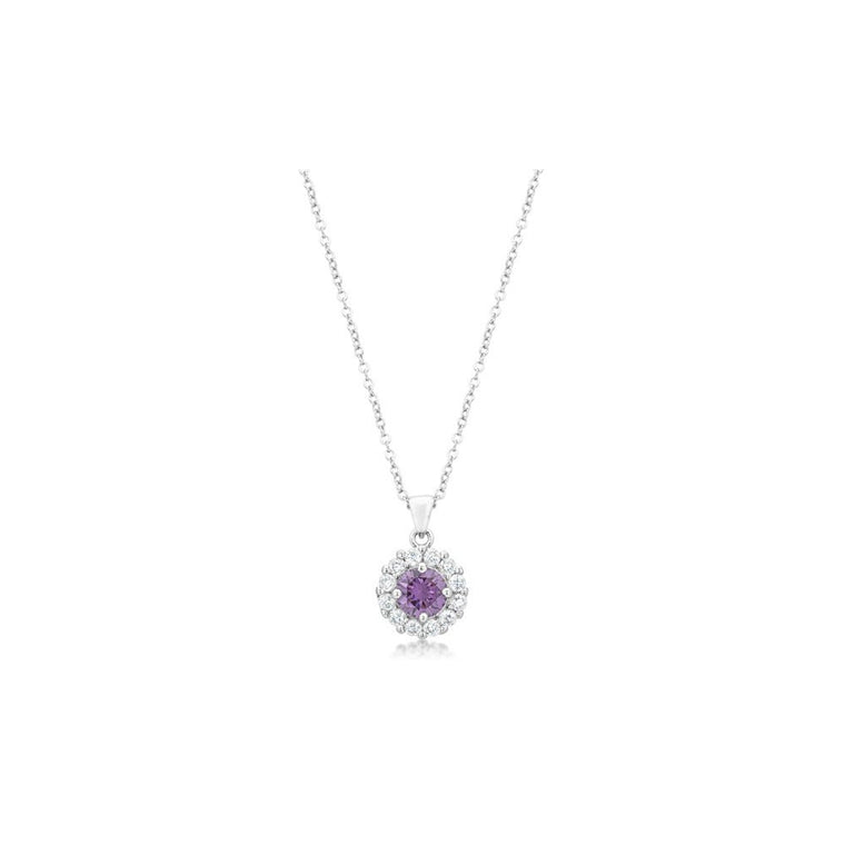 Bella Bridal Pendant In Purple - duzuu
