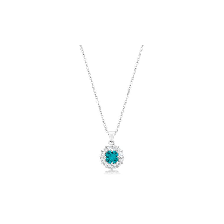 Bella Bridal Pendant In Aqua - duzuu