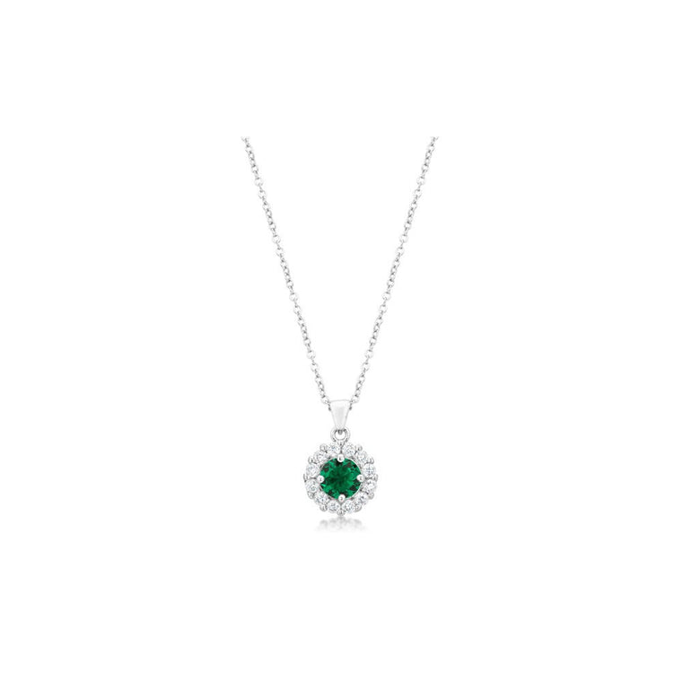 Bella Bridal Pendant In Green - duzuu
