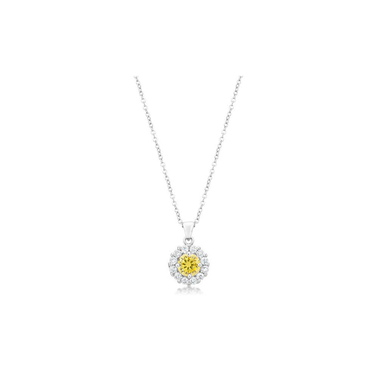Bella Bridal Pendant In Yellow - duzuu