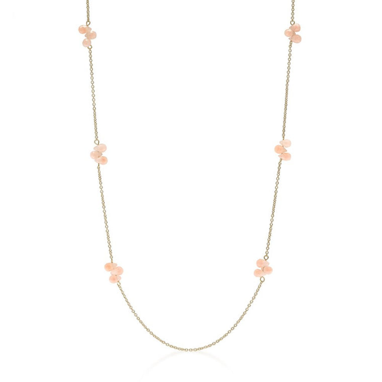 36 Inch Beaded Station Necklace - duzuu