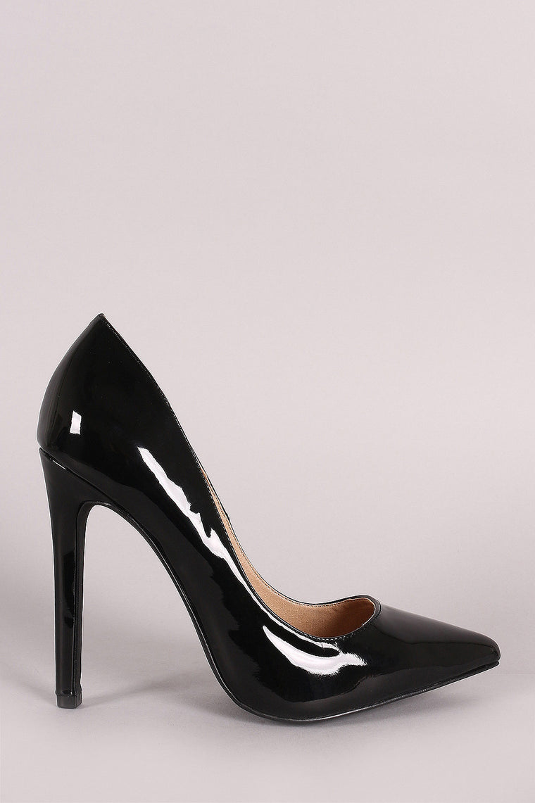 Patent Pointy Toe Pump - duzuu