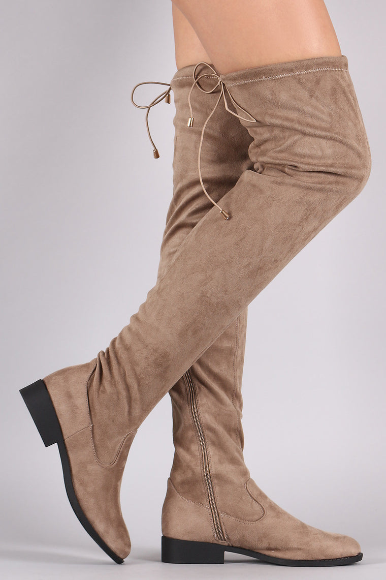 Qupid Slouchy Fitted Over the Knee Boots - duzuu