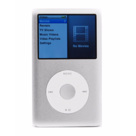 iPod Classic Silver 80GB (Used) 6th Generation