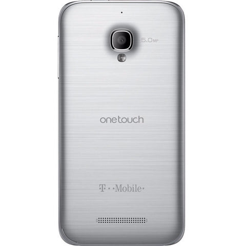 Alcatel One Touch Fierce 4G Android Smartphone T-Mobile Silver (Used)
