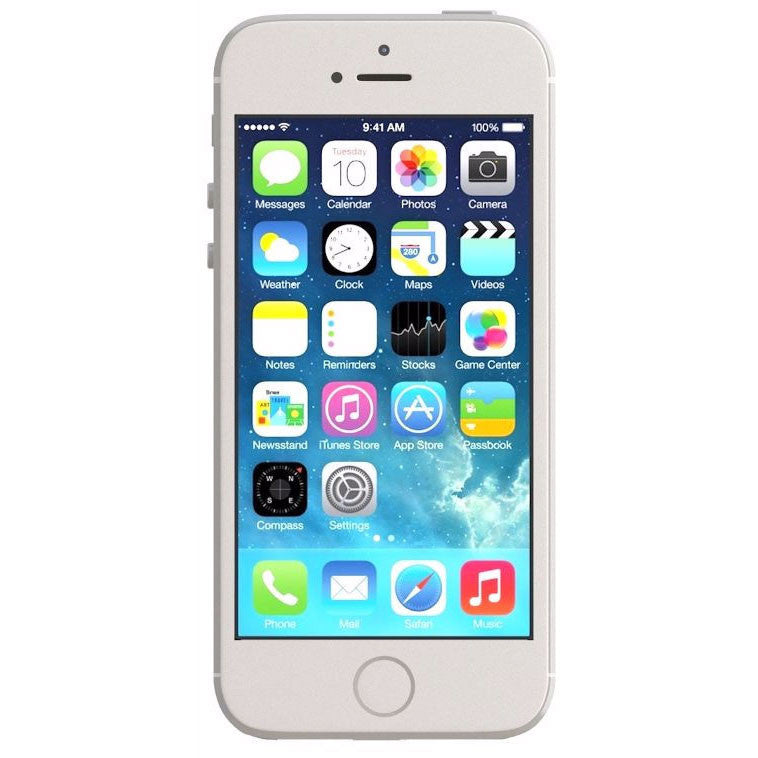 Apple iPhone 5s Unlocked Cellphone Silver 16GB (Used) Smartphone