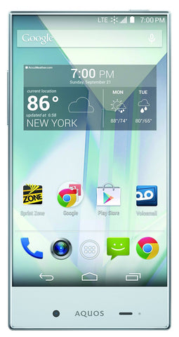 Sharp AQUOS Sprint Crystal White 8GB (Used) Smartphone