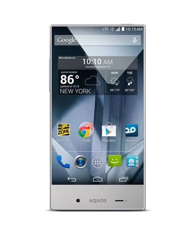 Sharp Aquos Prepaid Sprint Crystal Silver 8GB (Used) Smartphone