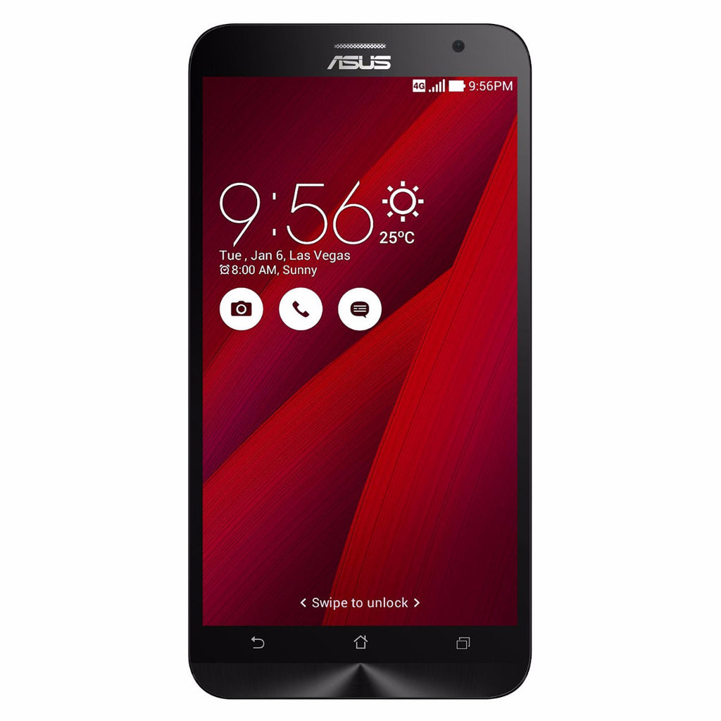 ASUS ZenFone 2 Unlocked Cellphone Red 64GB (Used) Smartphone